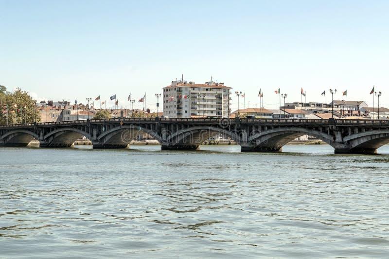 比亚利兹桥梁 库存图片
