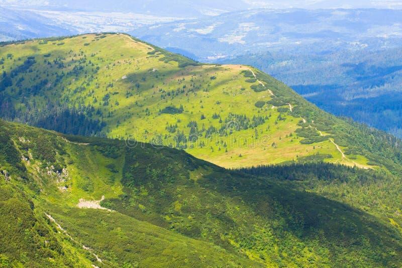 巴比亚Gora山,波兰 库存图片