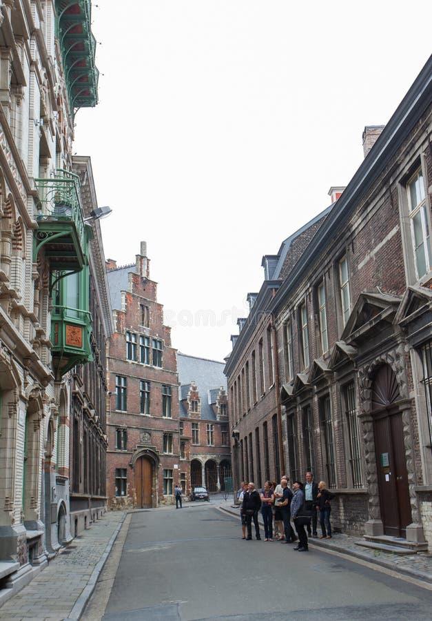 比利时传统建筑 免版税库存照片