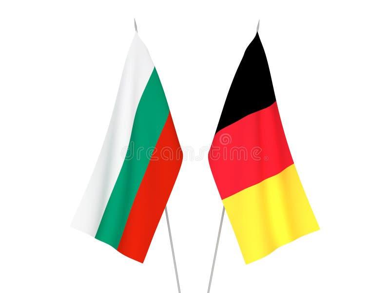 比利时和保加利亚旗子 库存例证