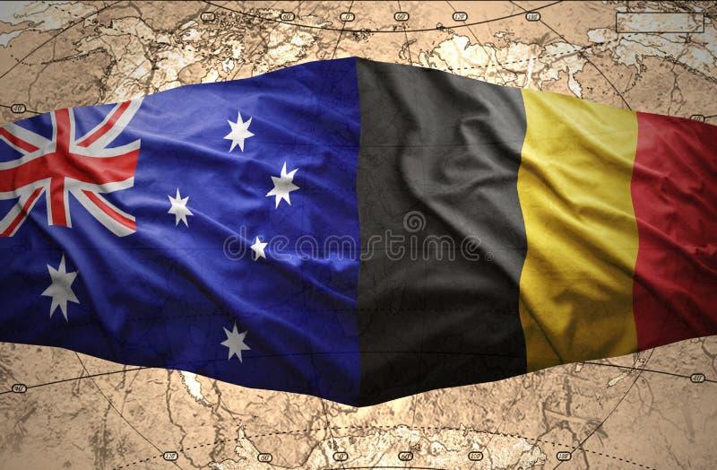 比利时和澳大利亚 皇族释放例证