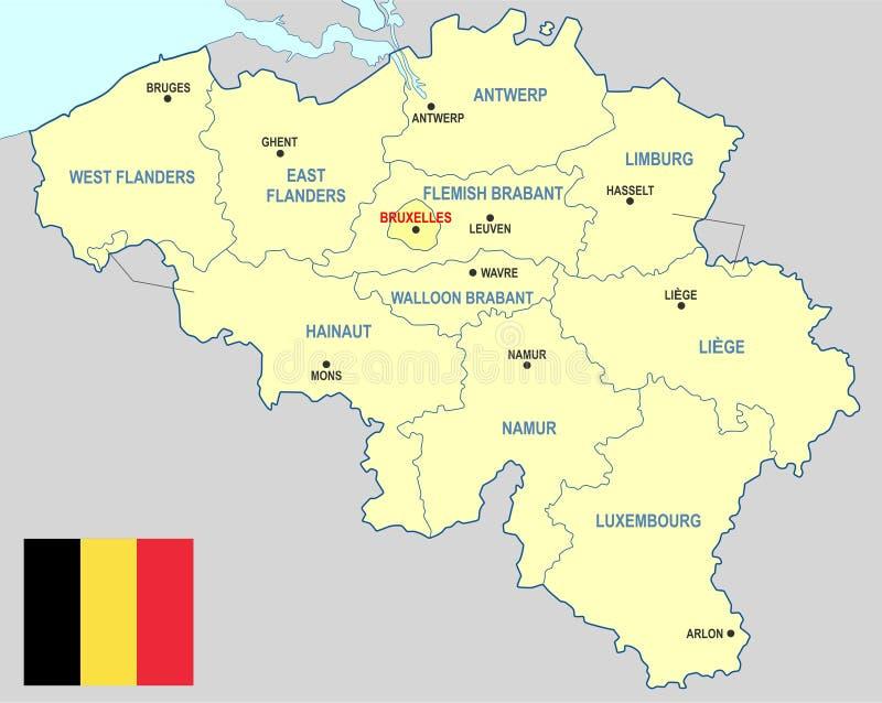 比利时地图 库存例证