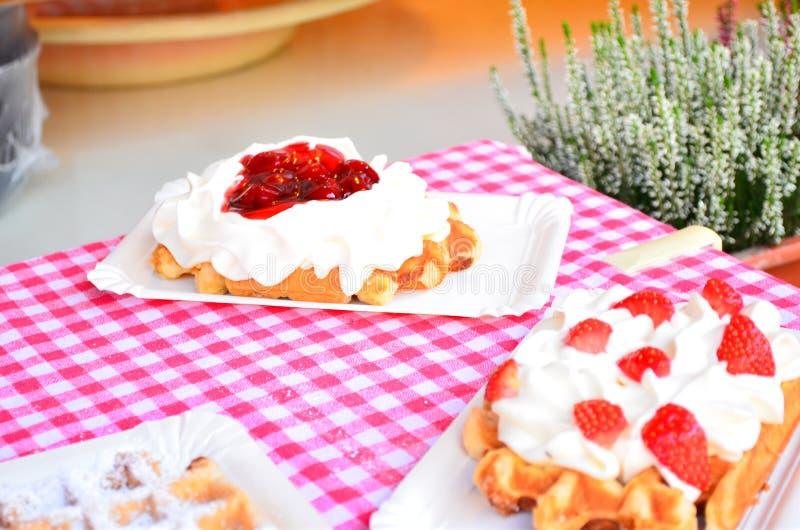 比利时奶蛋烘饼 库存照片