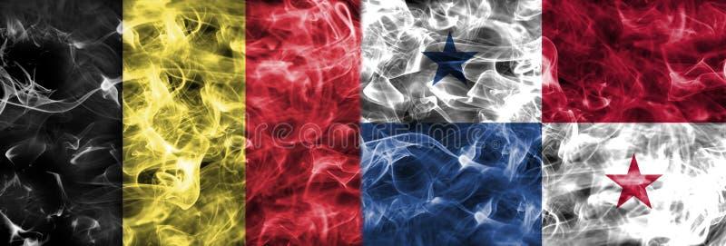 比利时对巴拿马烟旗子,小组GFifa橄榄球世界杯201 皇族释放例证
