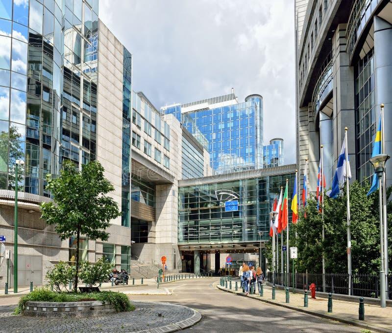 比利时布鲁塞尔欧议会 免版税图库摄影