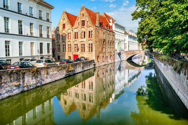 比利时布鲁日运河 图库摄影