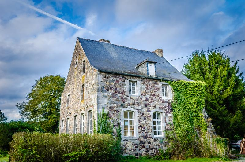 比利时房子 库存照片