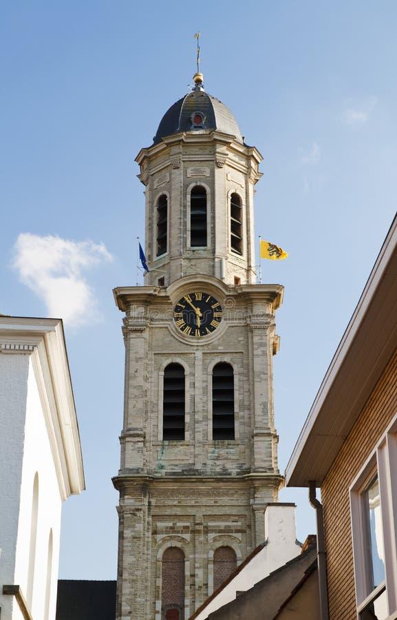 比利时教会laurentius lokeren圣徒 免版税库存照片