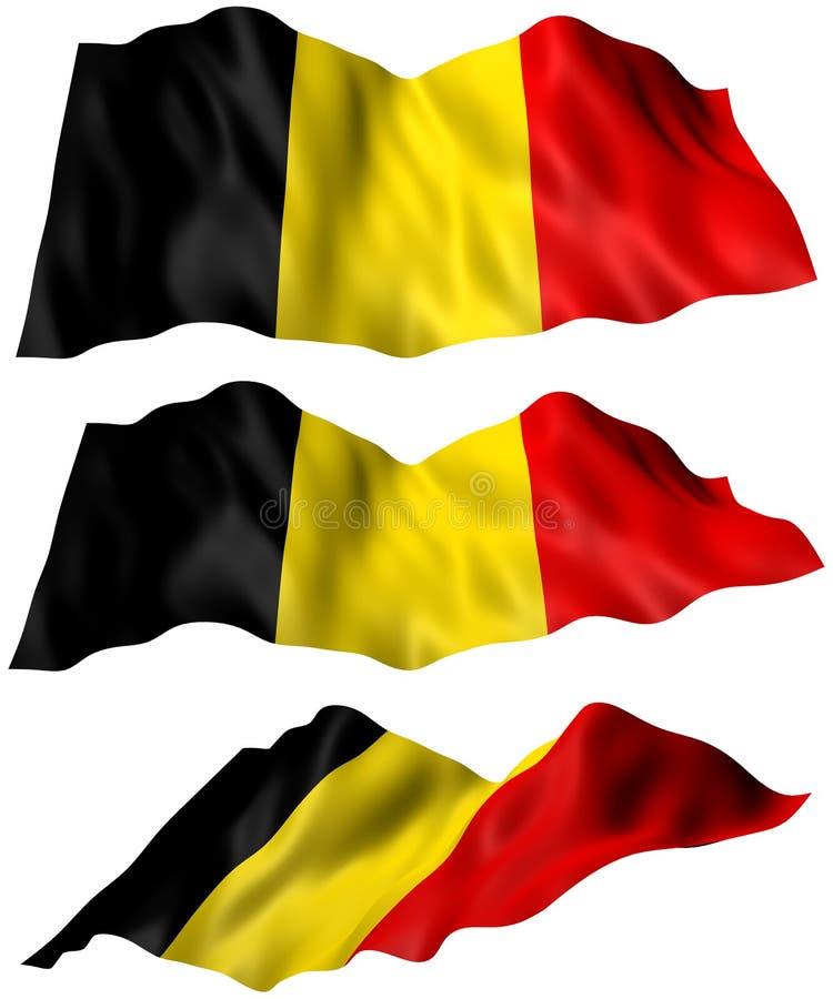 比利时旗子 库存例证