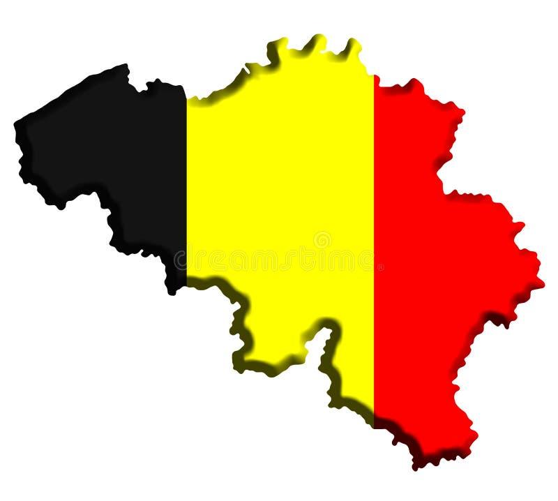 比利时映射 皇族释放例证