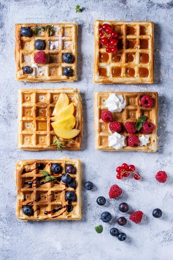 比利时浆果奶蛋烘饼 库存图片