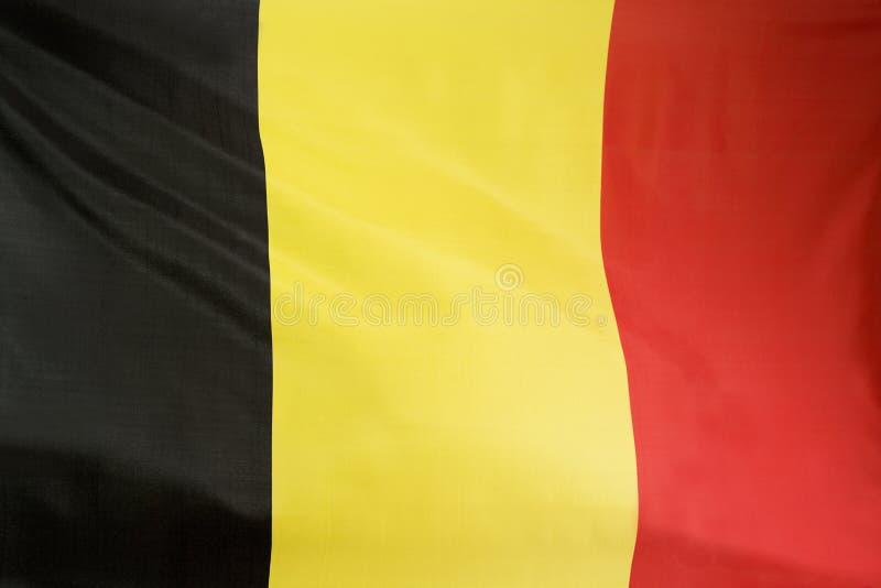 比利时的旗子特写镜头  免版税库存照片