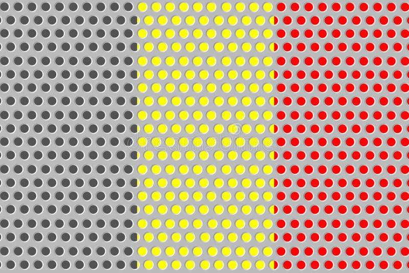 比利时的旗子金属的 库存例证