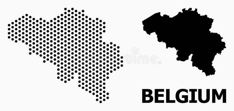 比利时的被加点的军用镶嵌地图 向量例证