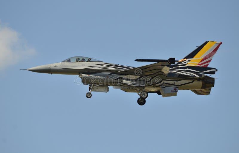 比利时空军的F-16 免版税图库摄影