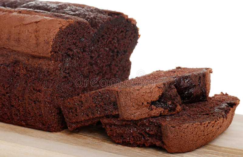 比利时蛋糕巧克力重点大面包片式 免版税库存图片