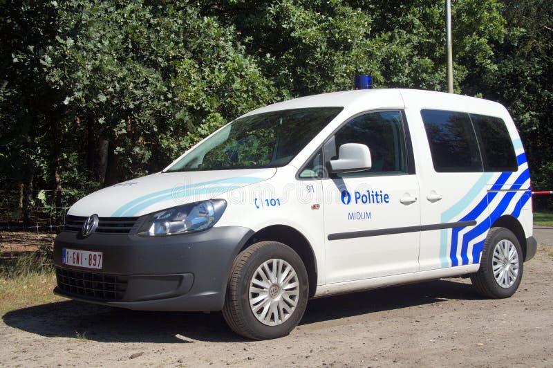 比利时警车K-9单位/Belgische politie汽车hondengeleider 免版税库存图片
