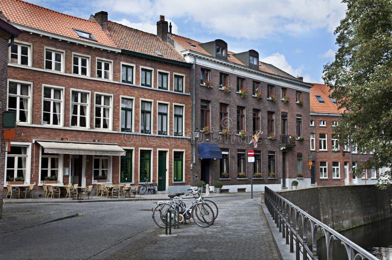 比利时跟特街道 免版税图库摄影