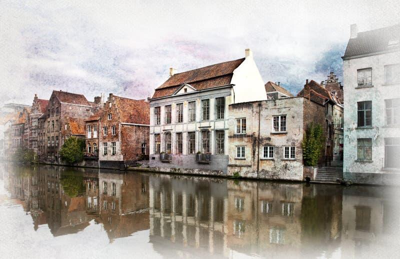 比利时跟特 库存照片