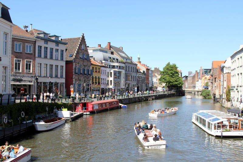 比利时跟特 免版税图库摄影
