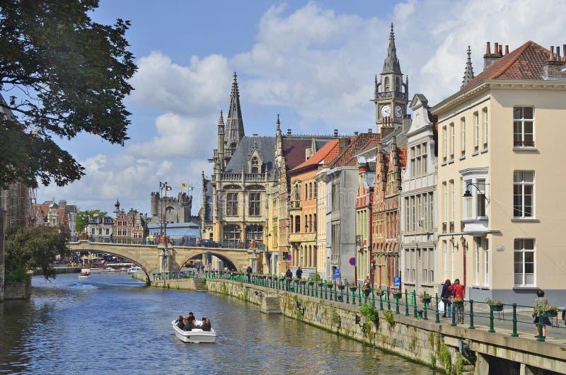 比利时,跟特 免版税库存图片