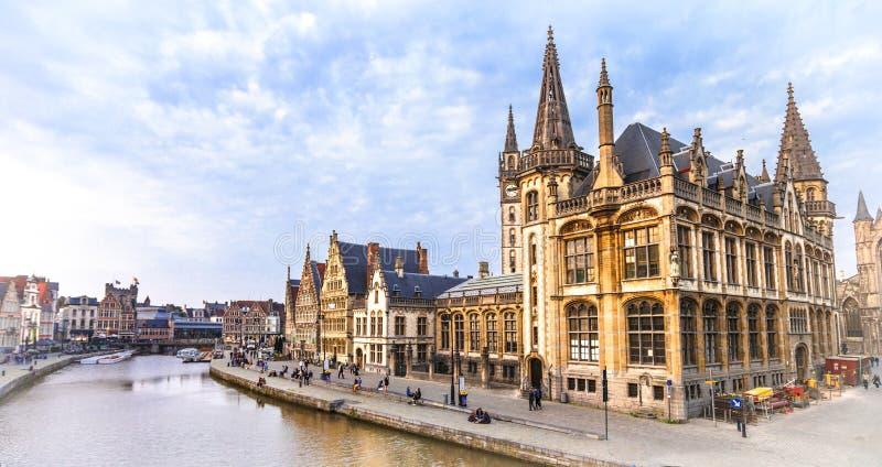 比利时 中世纪跟特 库存图片