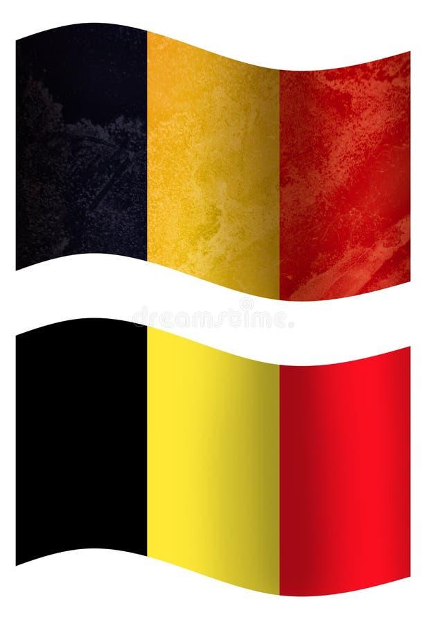比利时3D国旗,两个样式 皇族释放例证
