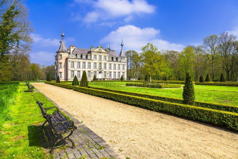 比利时- Poeke浪漫城堡  免版税图库摄影