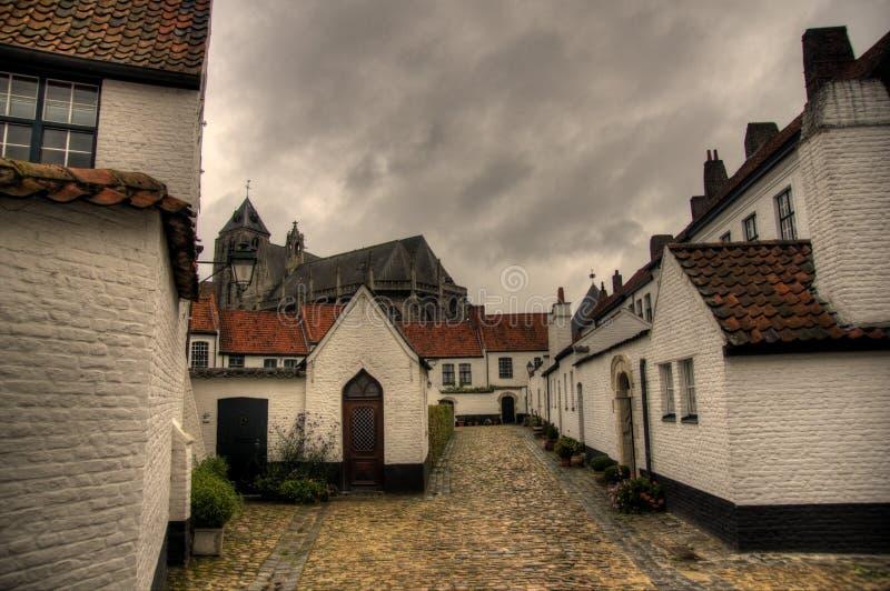 比利时kortrijk城镇 免版税库存图片