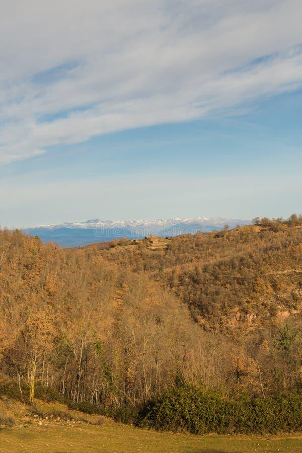 比利牛斯山脉 库存照片