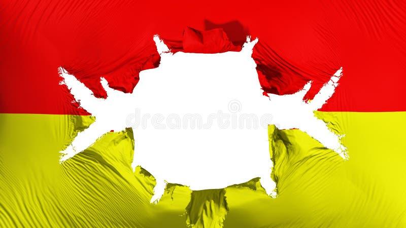 比勒陀利亚与一个大孔的市旗子 皇族释放例证