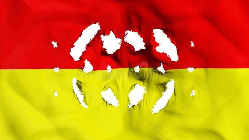 比勒陀利亚与的市旗子小孔 库存例证