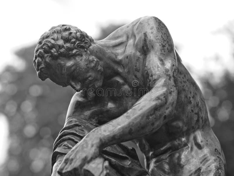 比喻铜雕塑特写镜头  库存图片