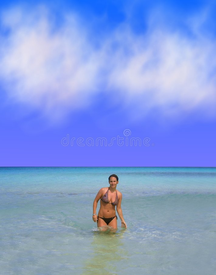 比基尼泳装妇女 库存图片