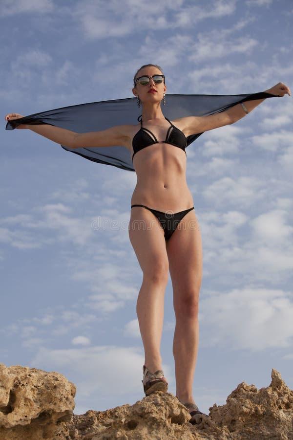比基尼泳装时尚女孩 库存图片