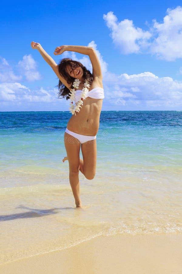 比基尼泳装白人妇女年轻人 库存图片
