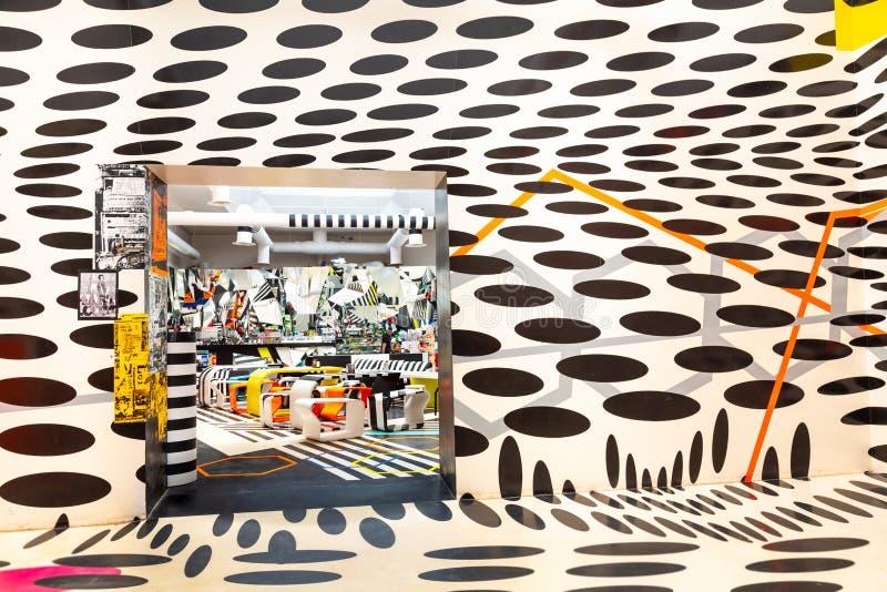 比安奈尔Arte 2019年威尼斯未来派咖啡角落 免版税图库摄影