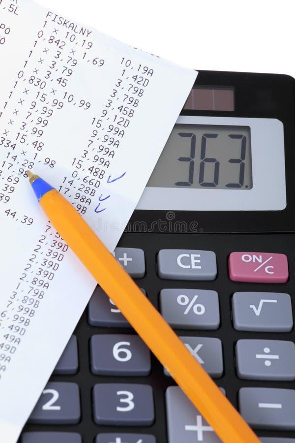 比尔和计算器 免版税库存图片