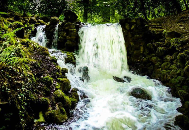 比尔城堡瀑布 库存照片