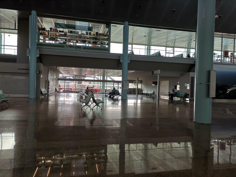 比戈机场的休息室,蓬特韦德拉,西班牙 库存图片