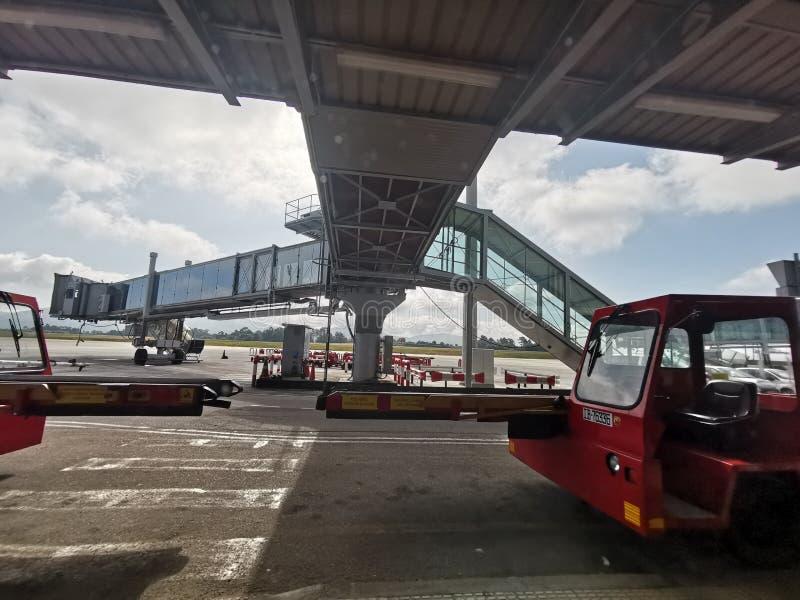比戈机场的操作范围,蓬特韦德拉,西班牙 免版税库存照片