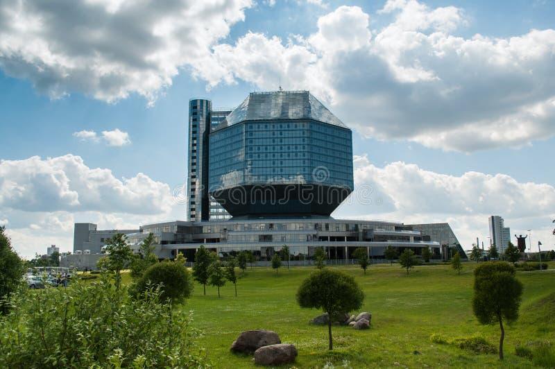 比拉罗斯图书馆米斯克国家标志 库存照片