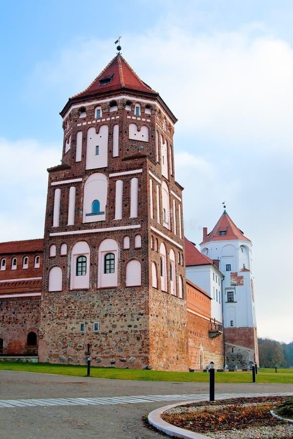 比拉罗斯城堡mir塔城镇 免版税图库摄影
