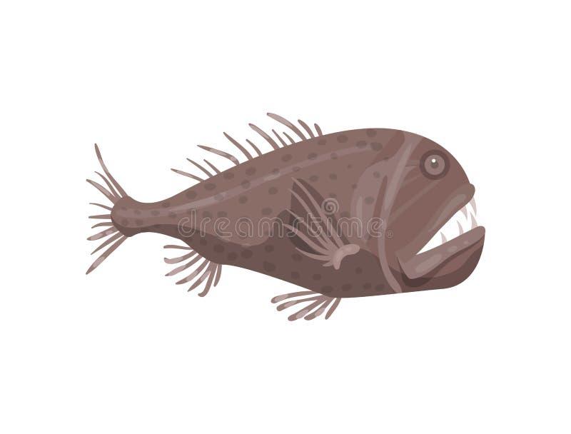 比拉鱼鱼平的传染媒介象  掠食性海洋动物 海洋生物 海和海洋生活题材 库存例证