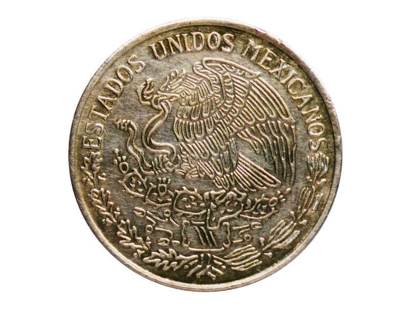 1比索硬币,墨西哥银行 相反,问题在1970年 免版税库存图片