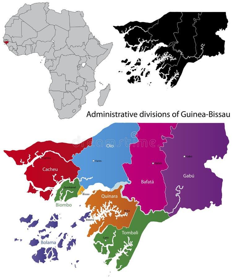 比绍几内亚映射 库存例证