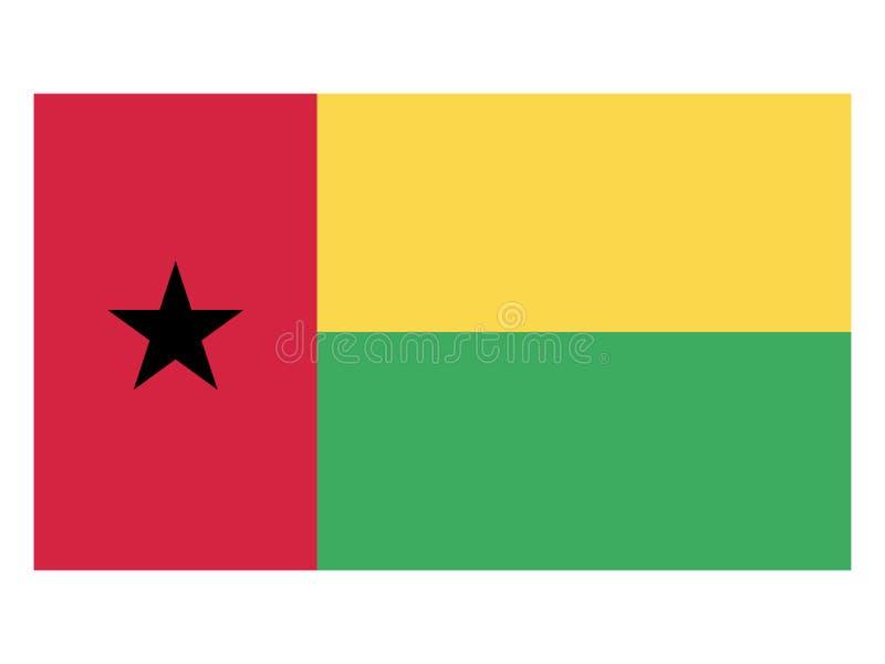 比绍标志几内亚 皇族释放例证