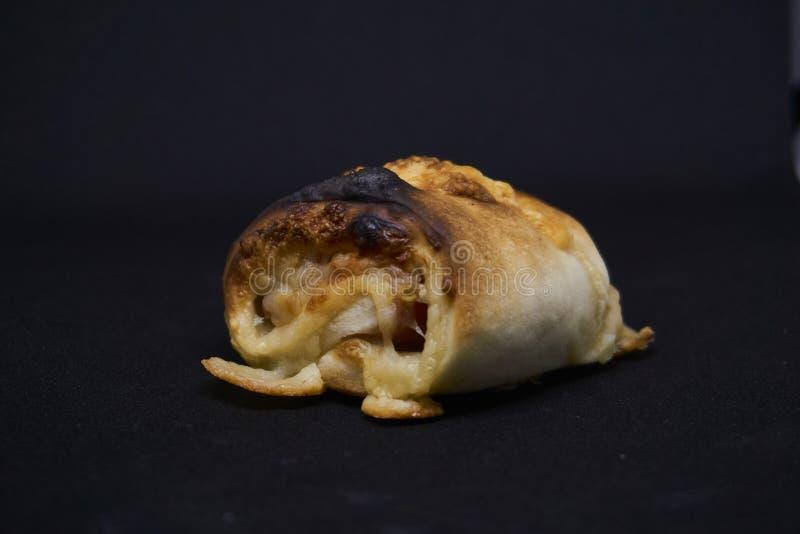 比萨小圆面包用乳酪 免版税图库摄影