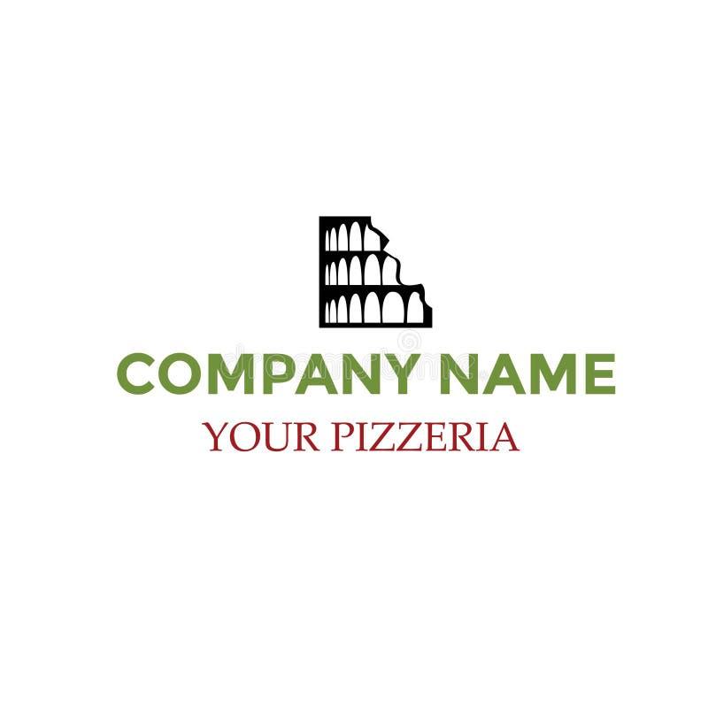 比萨店的可能的商标 库存照片