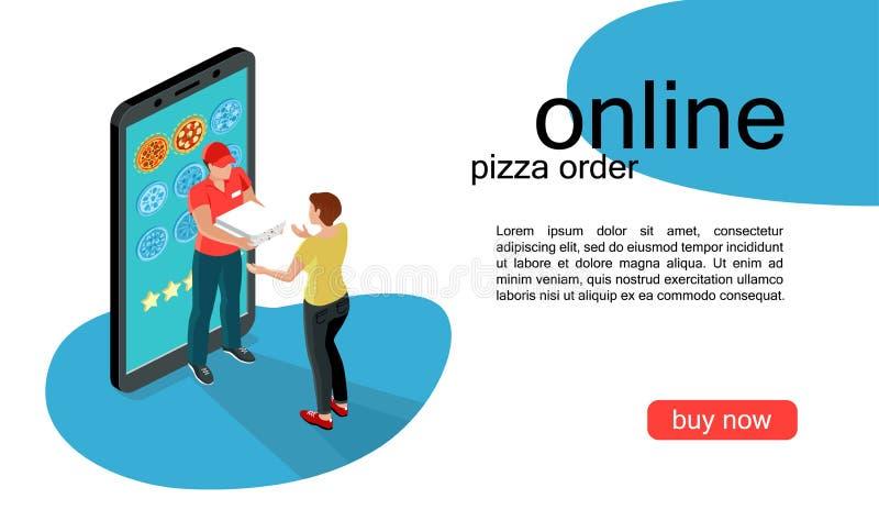 比萨网上顺序2 库存例证